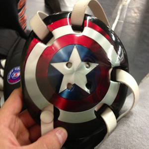 ... captain america wrestling headgear but this is pretty sweet wrestling