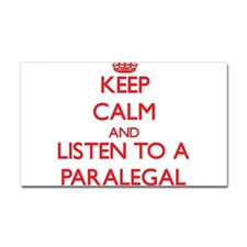 Keep Calm and Listen to a Paralegal Sticker for