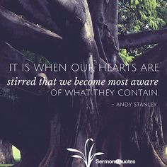 ... stirred that we become most aware of what they contain. - Andy Stanley