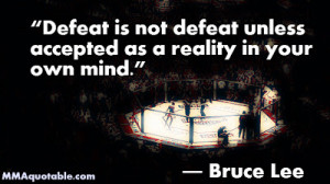 Bruce Lee quote on Defeat