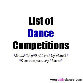 Dance Competition List