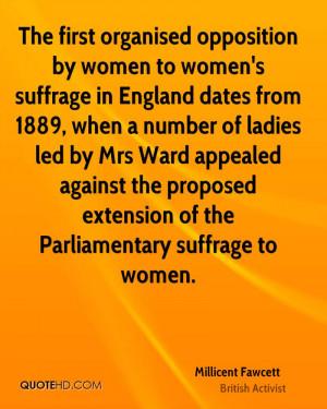 Millicent Fawcett Quotes