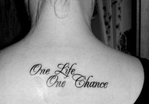 Back Word Tattoo