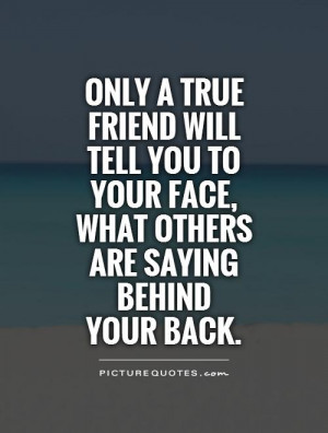 Friend Talking Behind Your Back Quotes