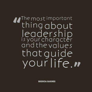 What are the #Leadership values that guide you? Brenda Barnes #quote