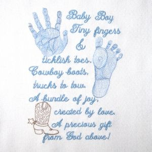 ... prayer baby footprint boys prints poem 5x7 baby baby boys footprint