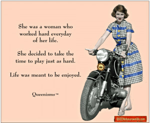 Queenisms are original trademarked works of art by authors, Cindy ...