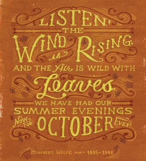 October Quotes Now for october eves!