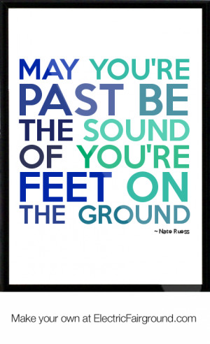 nate ruess framed quote