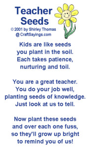 Seeds poem to be given with a plant or packet of seeds for school ...