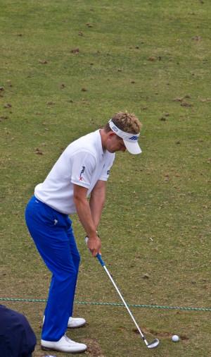 Luke Donald at Torrey practice range - 6/10/08