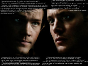 The Winchesters Sam and Dean's several quotes