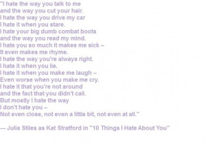 10 Things I Hate About You quote