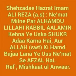 Sayings of Imam Ali Reza a.s