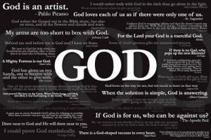 ... God Famous Quotes Religious Motivational Poster 24 x 36 inches A6943