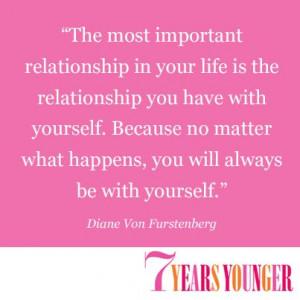 ... of inspiration from a #fashion icon, Diane Von Furstenberg. #quotes