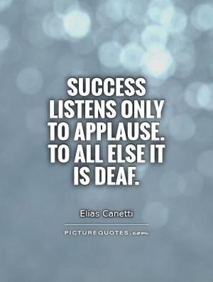 Success Quotes Elias Canetti Quotes