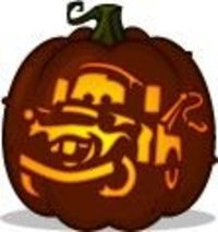 Tow Mater Pumpkin Carving Pattern