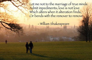 let me not to the marriage of true minds admit impediments love is not ...