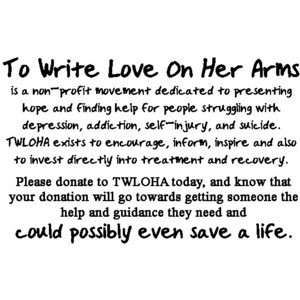To write love on her arms image by seriously-sam on Photobucket