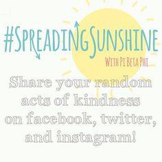 Pi Phis spreading sunshine #piphi #pibetaphi #spreadingsunshine