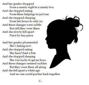 cut cutting anorexia bulimia Scar anorexic scars sadness poetry poem ...
