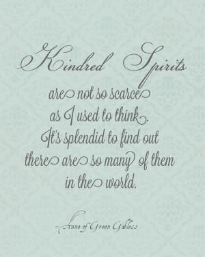 Anne of Green Gables April: Kindred Spirits Printable
