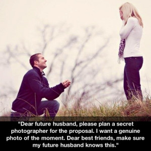 My dearest future husband, bear this in mind. Hearts and flowers. But ...
