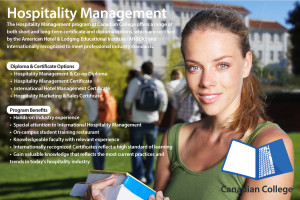 The Hospitality Management program at Canadian College offers a range ...
