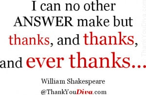 Thank You Quotes For The
