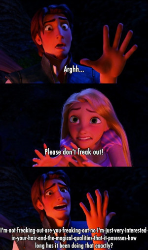 Most popular tags for this image include: funny, tangled, disney ...