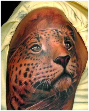 black panther chest tattoo