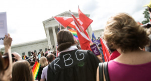equality shown outside the Supreme Court June 26, 2015 at the Court ...