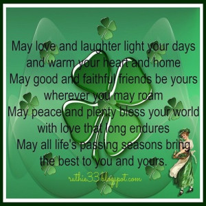 St. Patrick's Day Message