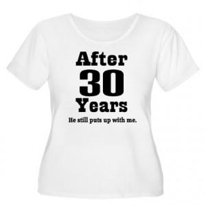30th Anniversary Funny Quote Women's Plus Size Sco