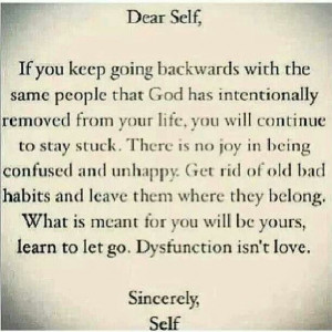 ... being confused and unhappy. Get rid of bad habits and leave them where