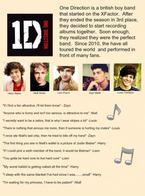 One Direction and their famous quotes