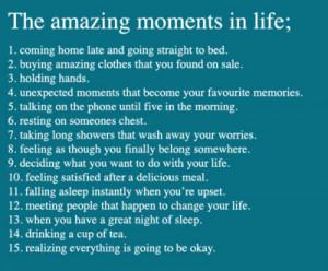 amazing, life, love, moments, quote