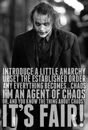 Best Chaos Quote ~ Introduce A Little Anarchy Upset The Established ...