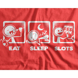 Funny Casino Shirt Eat Sleep Slots T-shirt V4 Gifts Slot Machine ...