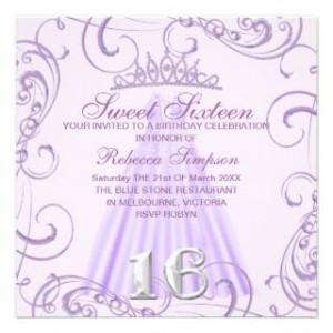 Sweet 16 Princess Invitations