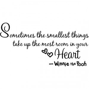 Winnie the pooh quotes wall stickers for children bedroom saying decor ...