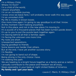 Month of the military child. Cindy born at Fort Eustis,Va.,Wally born ...
