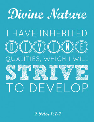 Divine Nature LDS Young Women