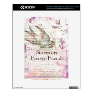 Sisters are Forever Friends QUOTE vintage art Skin For The NOOK