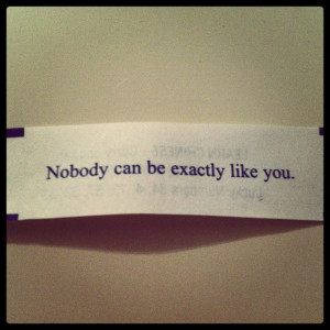 Fortune Cookie Quote...