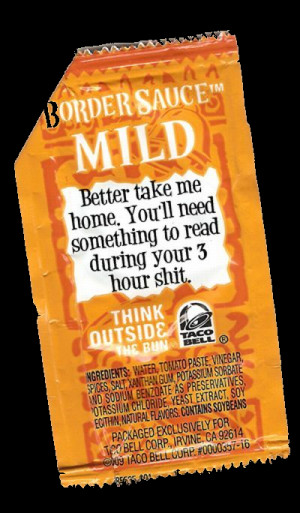 taco bell sauce sayings