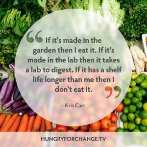 ... love wise words from the beautiful Kris Carr! www.hungryforchange.tv