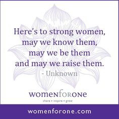 ... other women in the same position, and to help women be empowered so