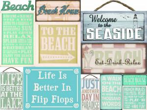 Beach and Coastal Wood Signs